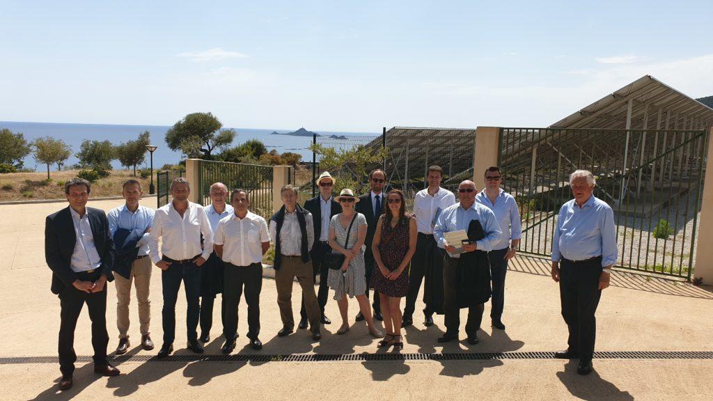 Photo des administrateurs de l'UIE lors de la visite des plateformes Myrte et Paglia Orbas – Ajaccio (Corse) le 13 Juin 2019